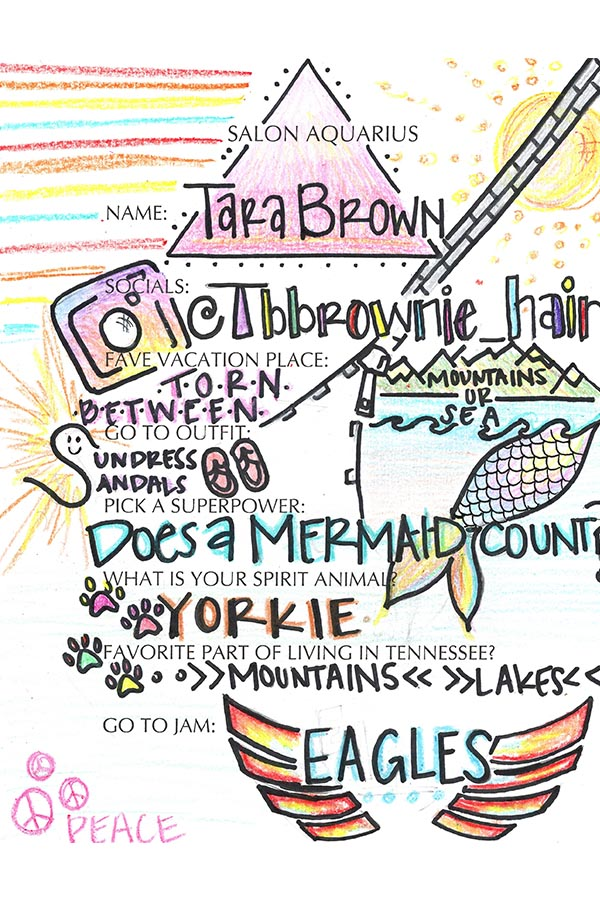 Tara Brown Bio knoxville hair stylist
